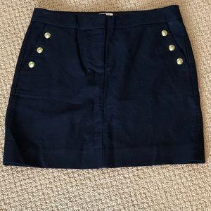 JCrew Nautical Navy Blue Skirt Size 0